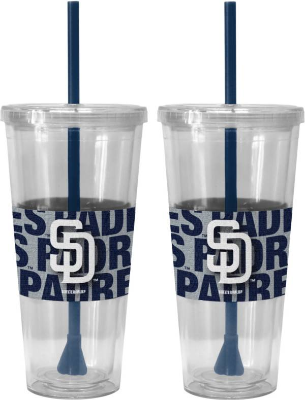 Boelter San Diego Padres Bold Sleeved 22oz Straw Tumbler 2-Pack product image