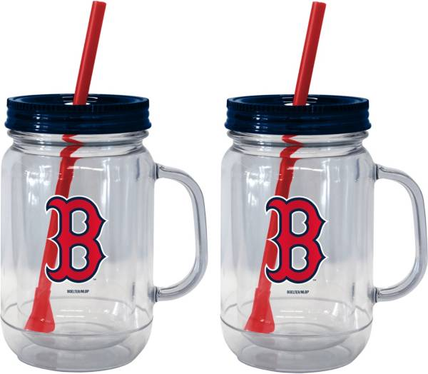 Boelter Boston Red Sox 20oz Handled Straw Tumbler 2-Pack product image