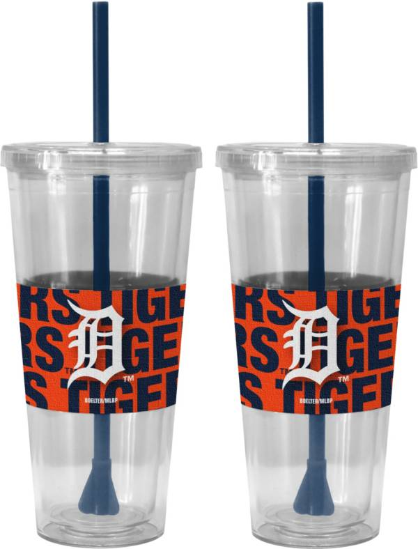 Boelter Detroit Tigers Bold Sleeved 22oz Straw Tumbler 2-Pack product image