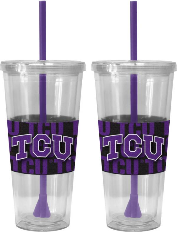 Boelter TCU Horned Frogs Bold Sleeved 22oz Straw Tumbler 2-Pack product image