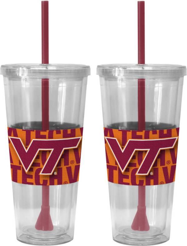 Boelter Virginia Tech Hokies Bold Sleeved 22oz Straw Tumbler 2-Pack product image