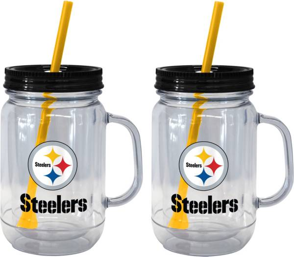Boelter Pittsburgh Steelers 20oz Handled Straw Tumbler 2-Pack product image