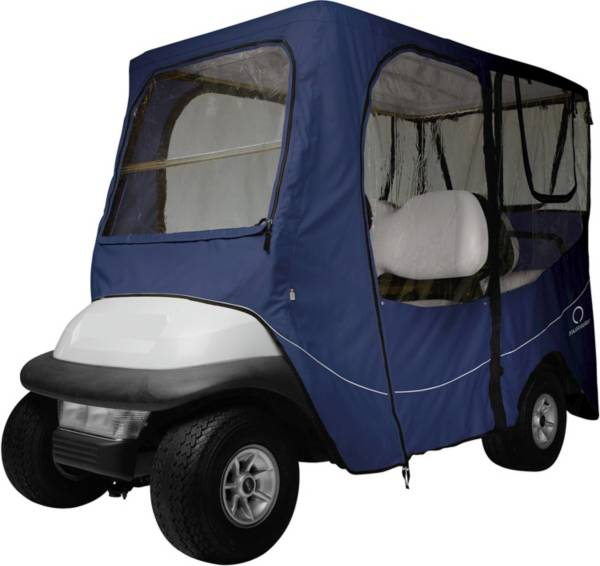 Classic Accessories Fairway Deluxe Long Golf Cart Enclosure – Navy product image