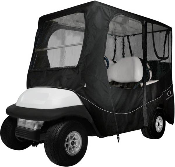 Classic Accessories Fairway Deluxe Long Roof Black Golf Cart Enclosure product image