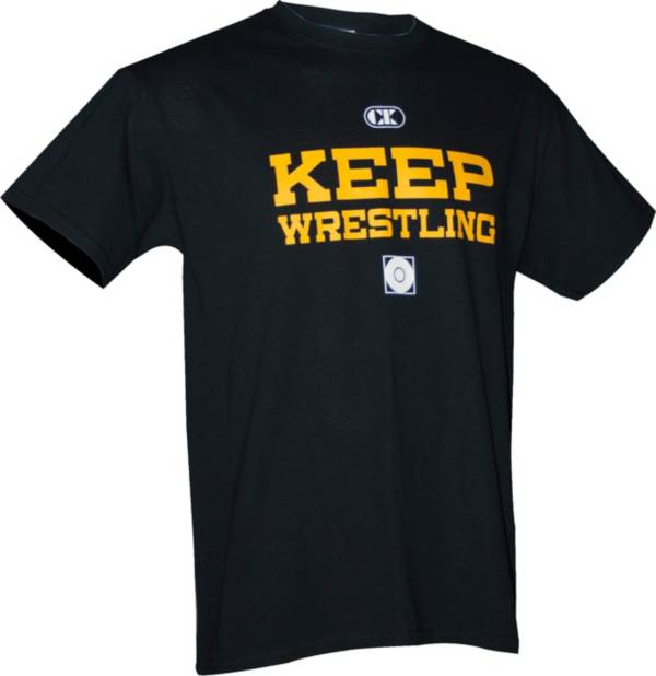 "Cliff Keen ""Keep Wrestling"" Short Sleeve Wrestling Shirt product image"