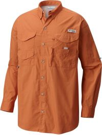 Columbia Mens PFG Bonehead Long Sleeve Shirt Cotton Relaxed Fit