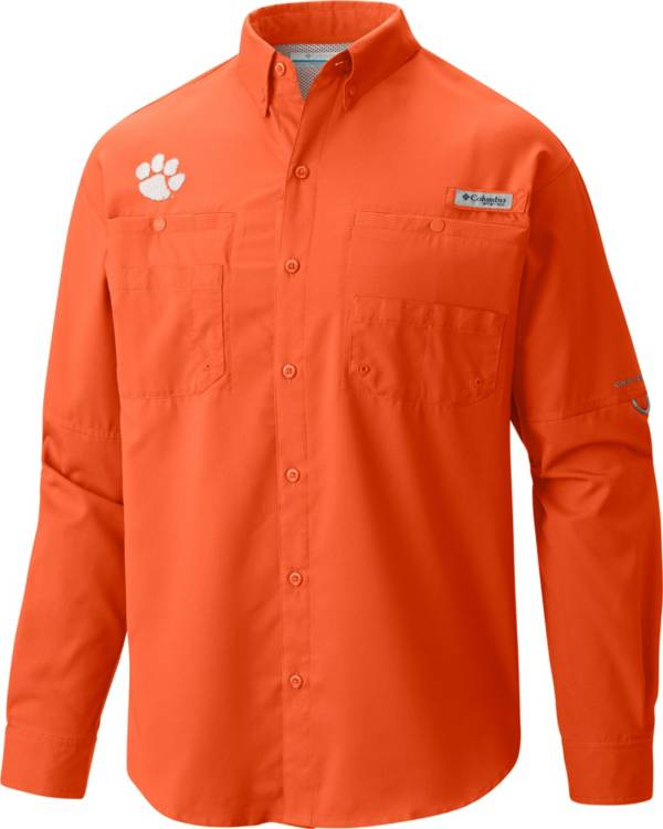 Columbia Men's Clemson Tigers Orange Tamiami Long Sleeve Shirt product image