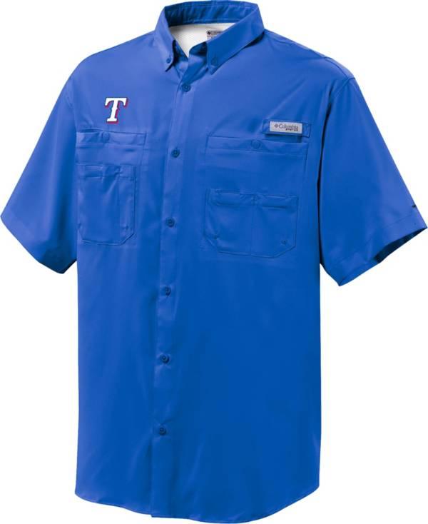 Columbia Men's Texas Rangers Royal Tamiami Performance Short Sleeve Shirt product image