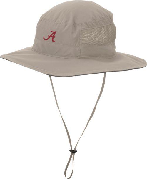 Columbia Men s Alabama Crimson Tide Khaki Bora Bora Booney II Hat ... 4da46bd9925