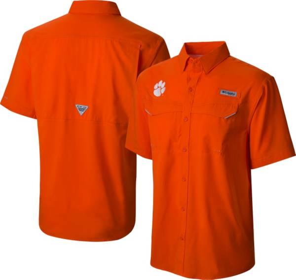 Columbia Men's Clemson Tigers Orange Low Drag Offshore Performance Button Down Shirt product image