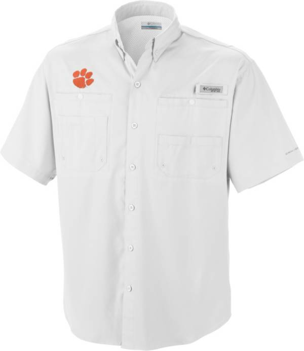 Columbia Men's Clemson Tigers White Tamiami Performance Shirt product image