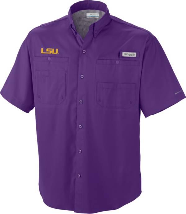 Columbia Men's LSU Tigers Purple Tamiami Performance Shirt product image