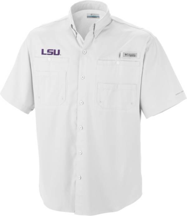 Columbia Men's LSU Tigers White Tamiami Performance Shirt product image