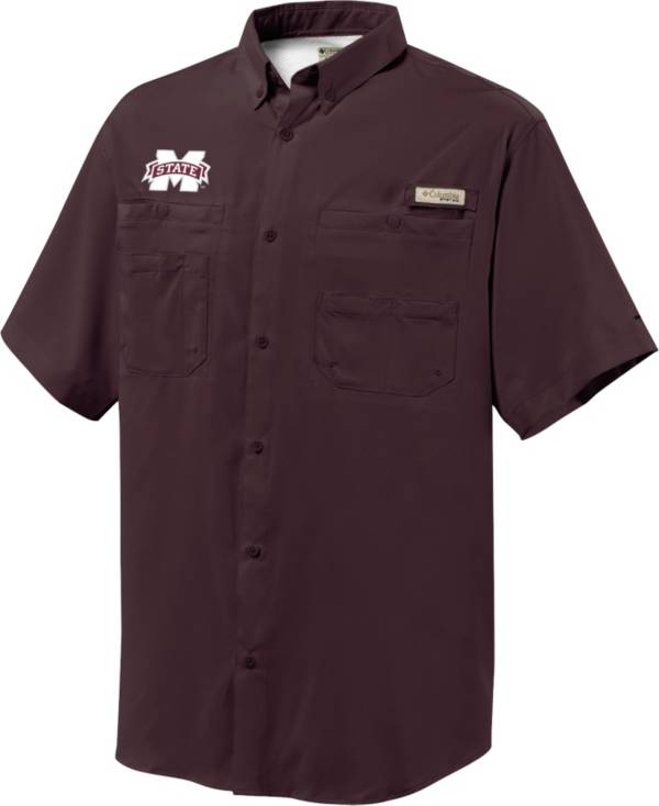 Columbia Men's Mississippi State Bulldogs Maroon Tamiami Short Sleeve Performance Shirt product image