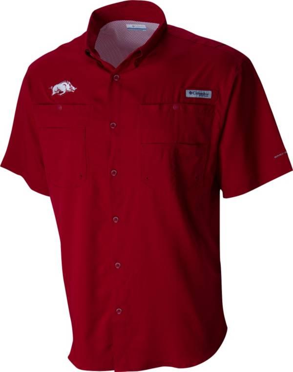 Columbia Men's Arkansas Razorbacks Cardinal Tamiami Performance Shirt product image