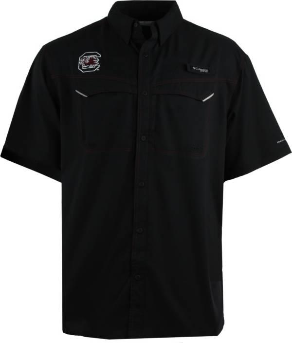 Columbia Men's South Carolina Gamecocks Garnet Low Drag Offshore Performance Button Down Shirt product image