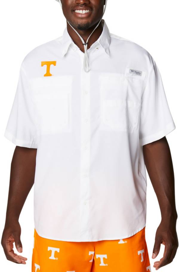 Columbia Men's Tennessee Volunteers White Tamiami Performance Short Sleeve Shirt product image