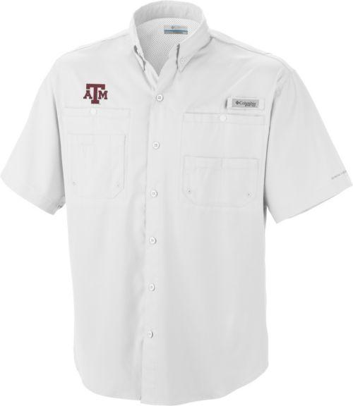 f6ff817b1 Columbia Men s Texas A M Aggies White Tamiami Performance Shirt ...