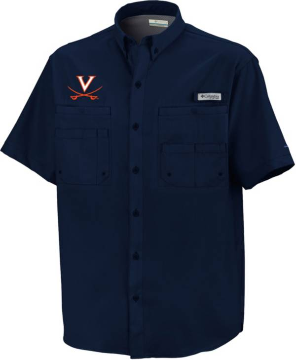 Columbia Men's Virginia Cavaliers Blue Button-Down Performance Short Sleeve Shirt product image