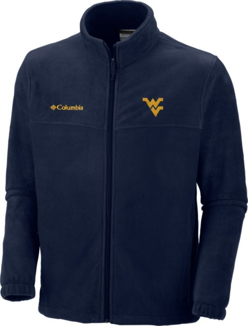 Columbia Men s West Virginia Mountaineers Blue Flanker Full-Zip ... 7c31193aa8c7