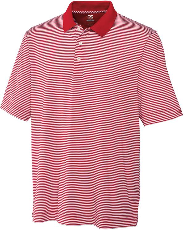 Cutter & Buck Men's CB DryTec Trevor Stripe Golf Polo product image