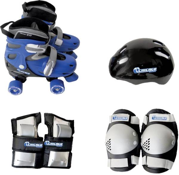 Chicago Skates Boys' Adjustable Quad Skate Combo product image