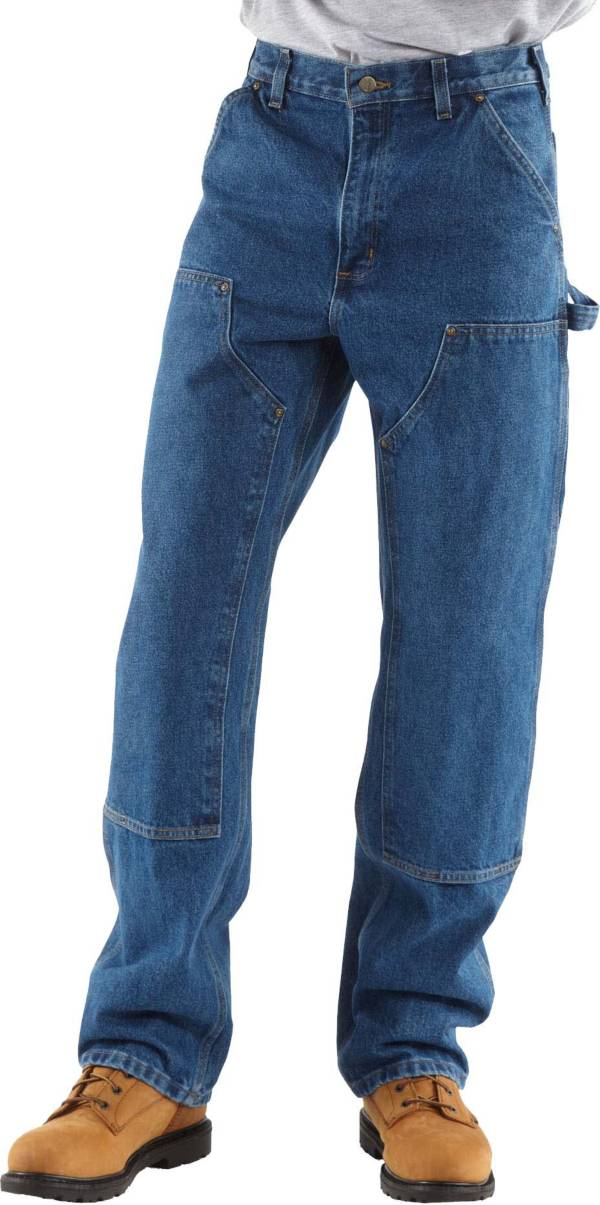 Carhartt Men's Double Front Washed Denim Logger Dungarees product image