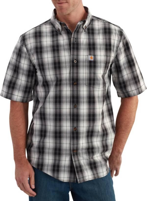 Carhartt Men's Essential Plaid Button Down Short Sleeve Shirt product image