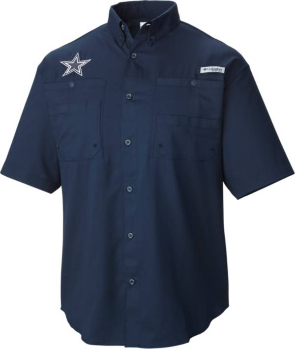 Columbia Men's Dallas Cowboys Tamiami Navy Button Up Shirt product image