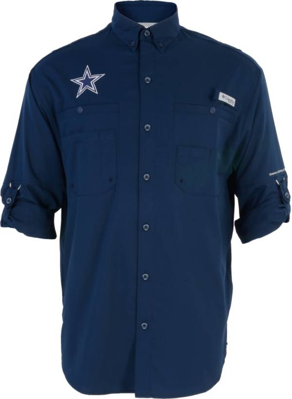 Columbia Men's Dallas Cowboys Tamiami Navy Button-Up Dress Shirt product image