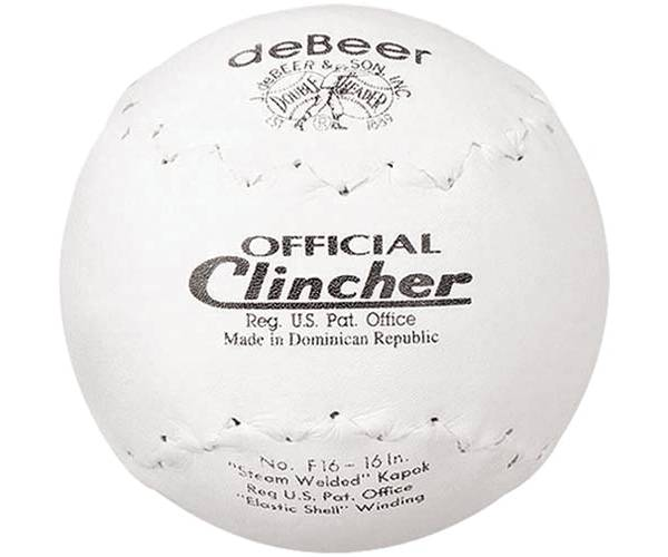 """deBeer 16"""" Clincher Slow Pitch Softball product image"""
