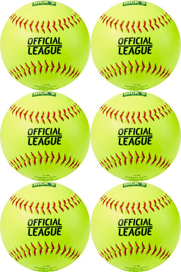 DICK'S Sporting Goods 11'' Practice Softballs – 6 Pack product image