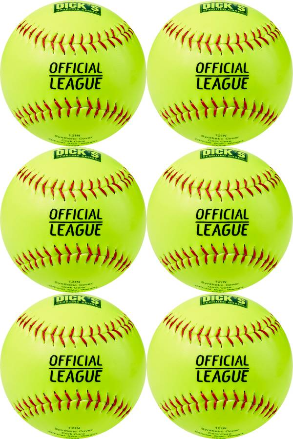 DICK'S Sporting Goods 12'' Practice Softballs – 6 Pack product image