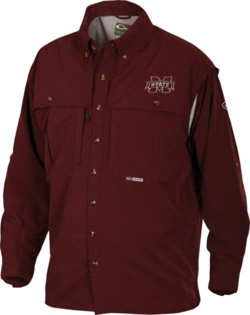 ed8e69f30d0 Drake Waterfowl Men s Mississippi State Wingshooter s Long Sleeve Shirt.  noImageFound. 1