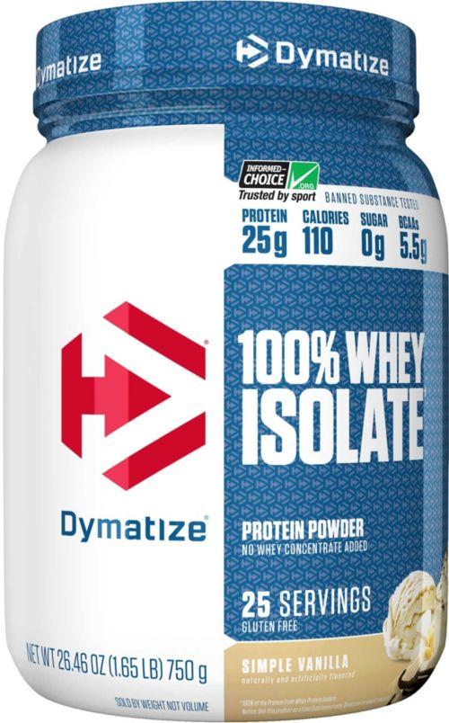 מעולה  Dymatize ISO-100 Hydrolyzed Whey Protein Powder Vanilla 1.6 LBS DD-83