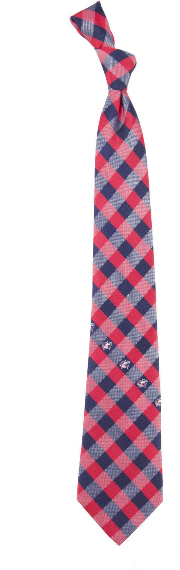 Eagles Wings Columbus Blue Jackets Check Necktie product image