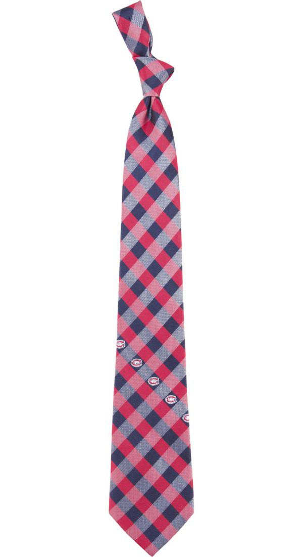 Eagles Wings Montreal Canadiens Check Necktie product image
