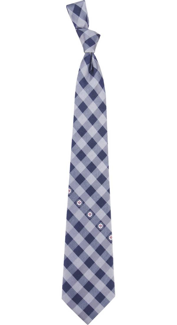 Eagles Wings Winnipeg Jets Check Necktie product image