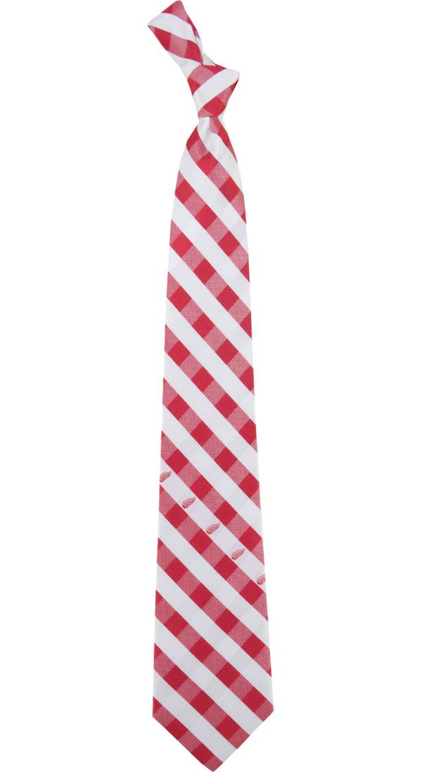 Eagles Wings Detroit Red Wings Check Necktie product image
