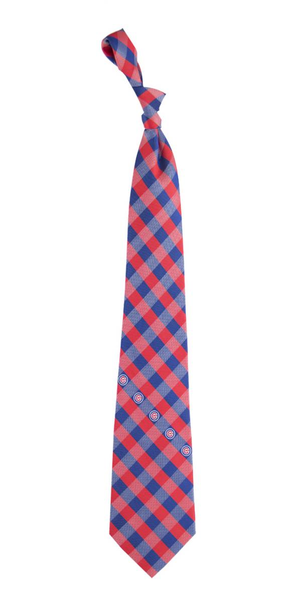 Eagles Wings Chicago Cubs Checkered Necktie product image