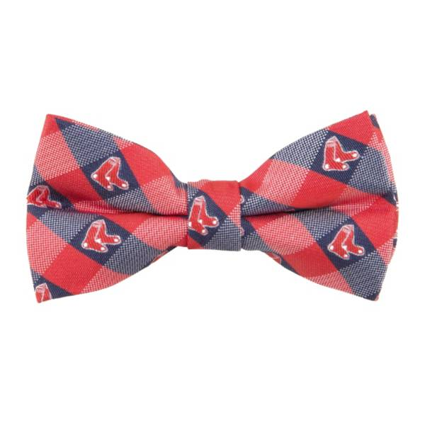 Eagles Wings Boston Red Sox Checkered Bow Tie product image