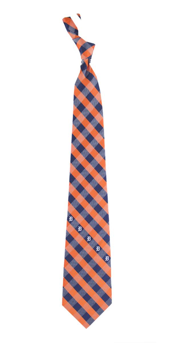 Eagles Wings Detroit Tigers Checkered Necktie product image