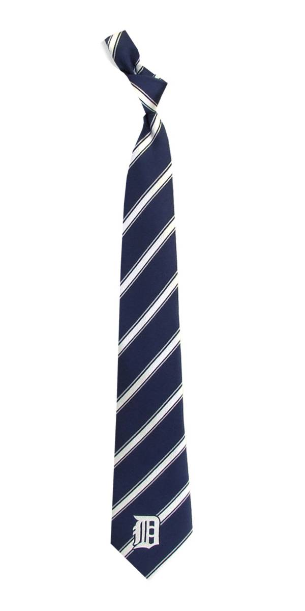 Eagles Wings Detroit Tigers Striped Polyester Necktie product image