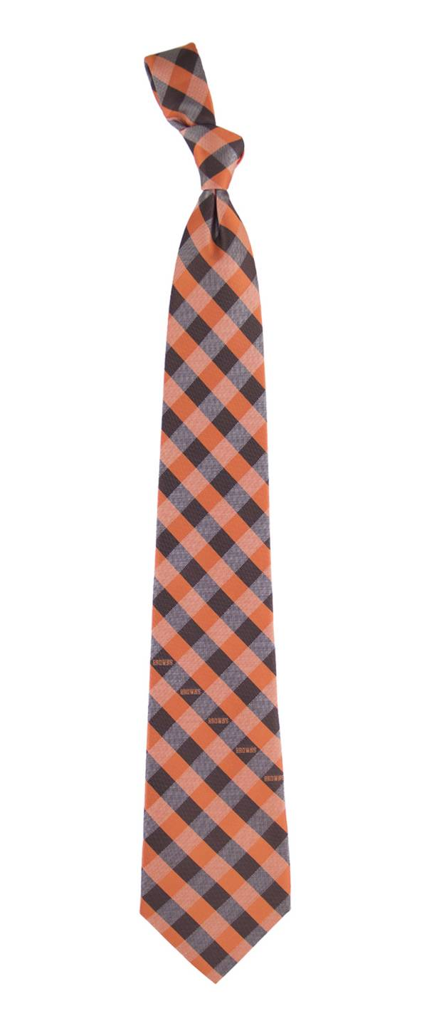 Eagles Wings Cleveland Browns Checkered Necktie product image