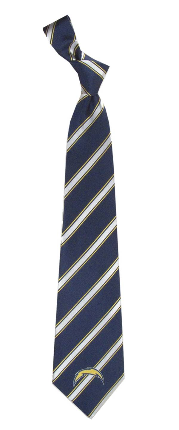 Eagles Wings Los Angeles Chargers Striped Polyester Necktie product image