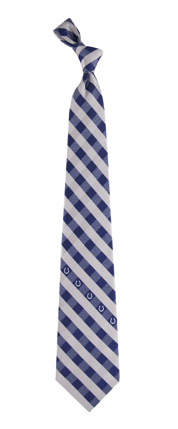 Eagles Wings Indianapolis Colts Checkered Necktie product image