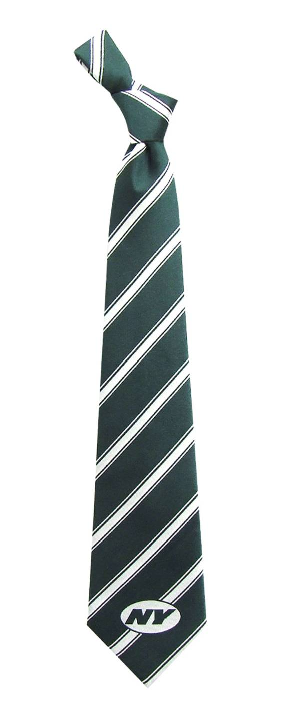 Eagles Wings New York Jets Striped Polyester Necktie product image