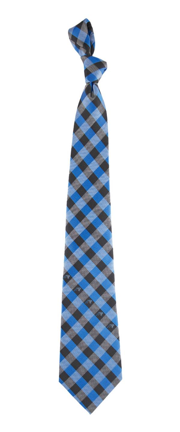 Eagles Wings Carolina Panthers Checkered Necktie product image