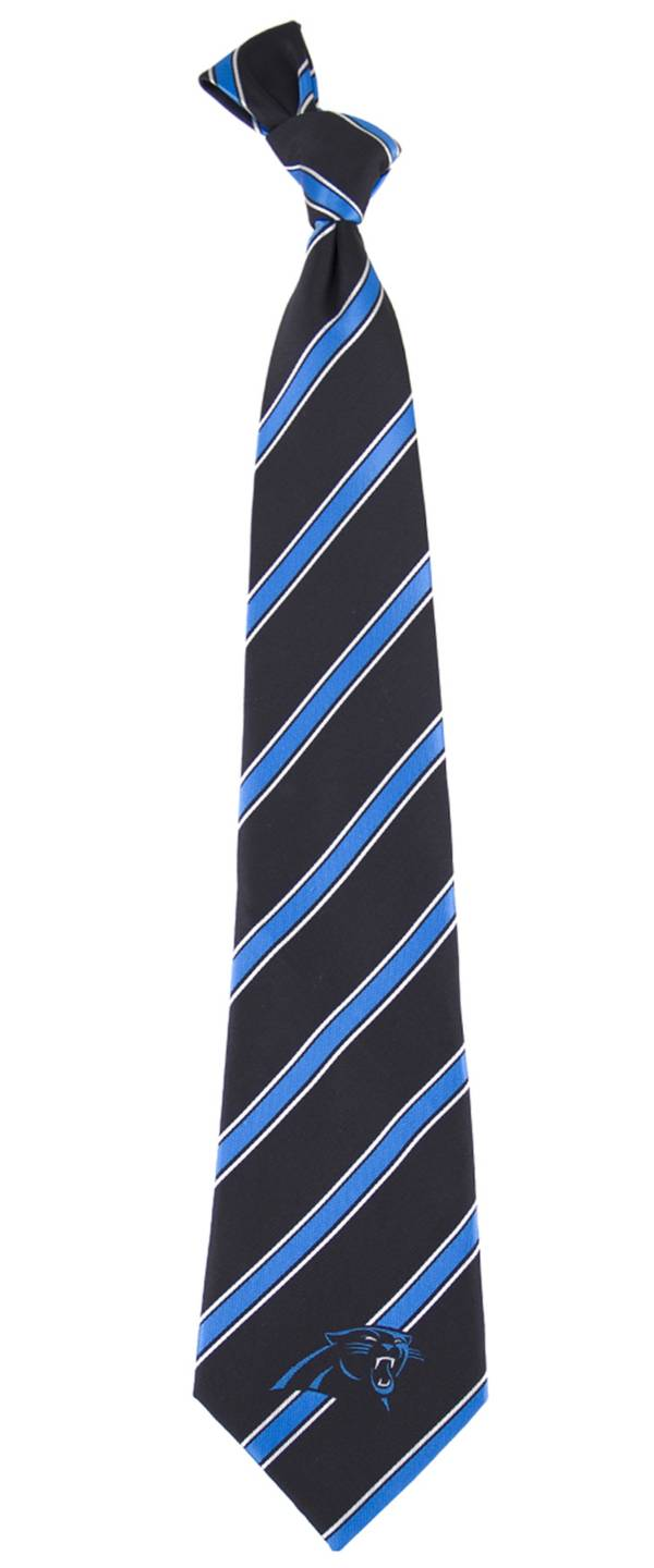Eagles Wings Carolina Panthers Striped Polyester Necktie product image