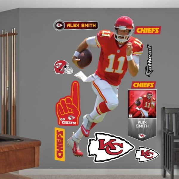 Fathead Alex Smith # Kansas City Chiefs Real Big Wall Graphic product image